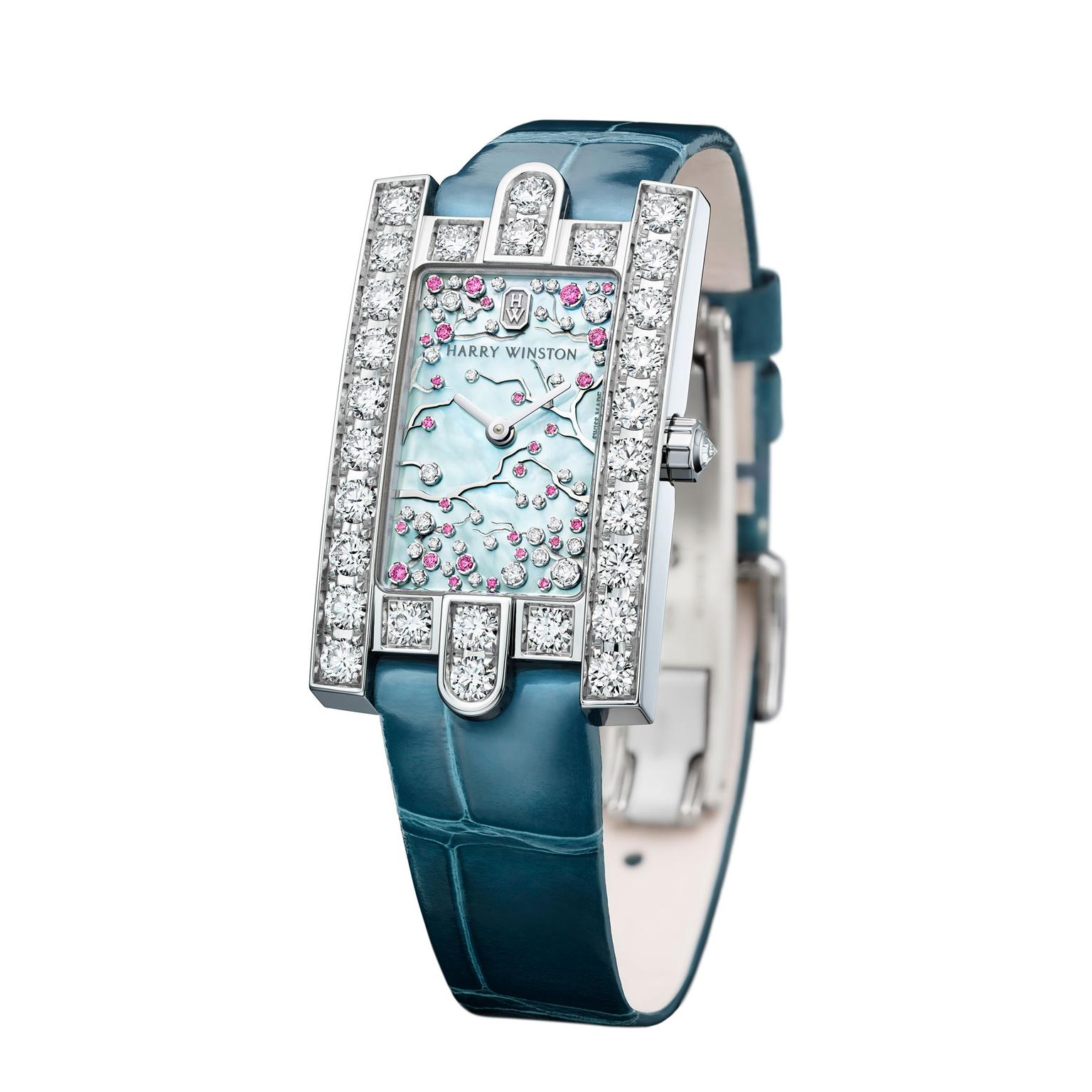 Harry Winston Avenue Classic Cherry Blossom watch