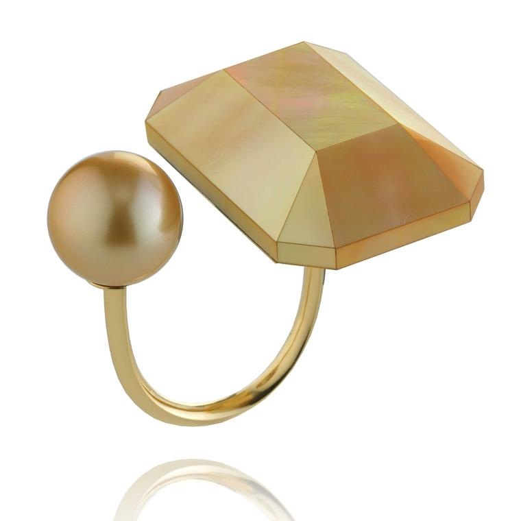 Melanie Georgacopoulos MOP mother of pearl ring