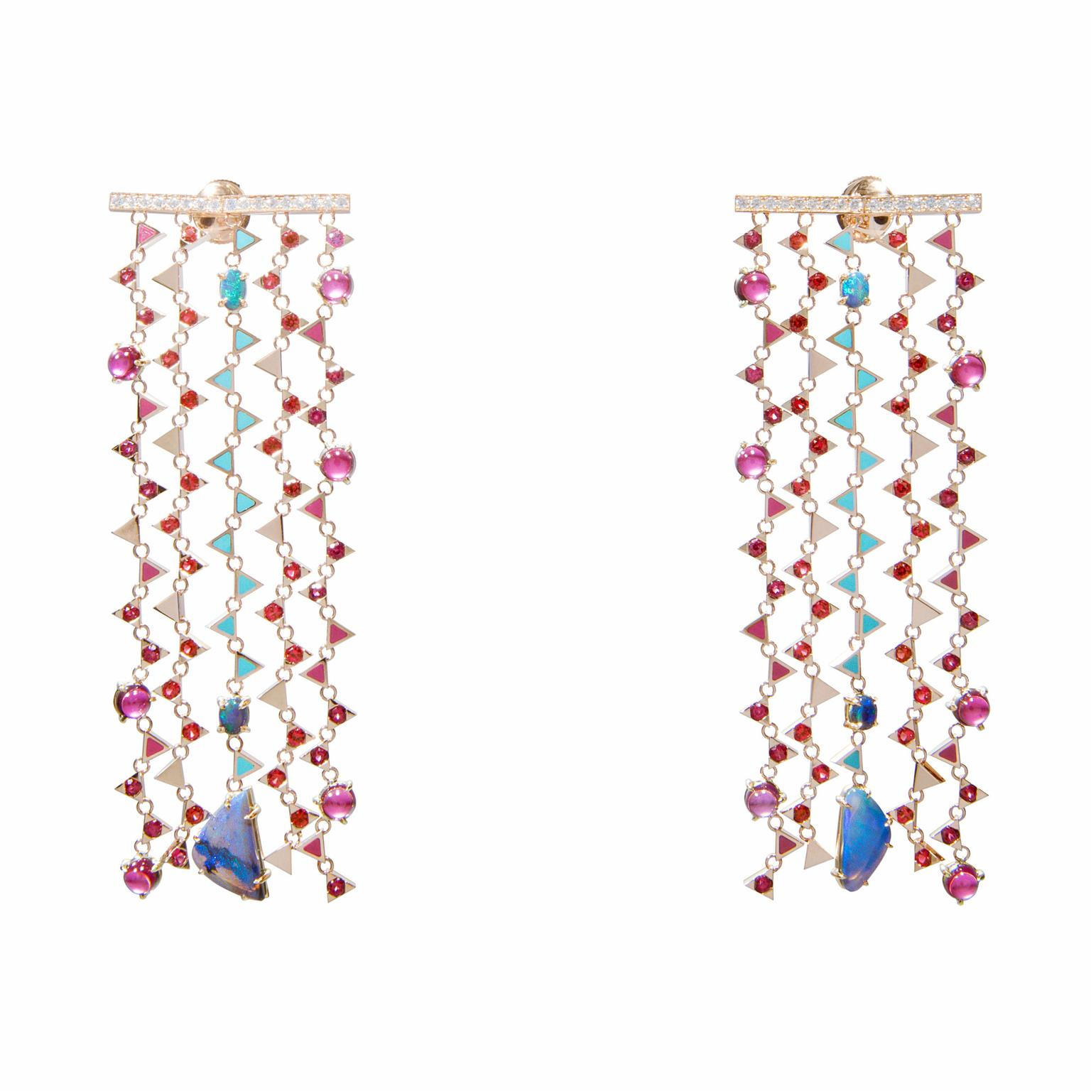 Nouvel Heritage geometric opal earrings