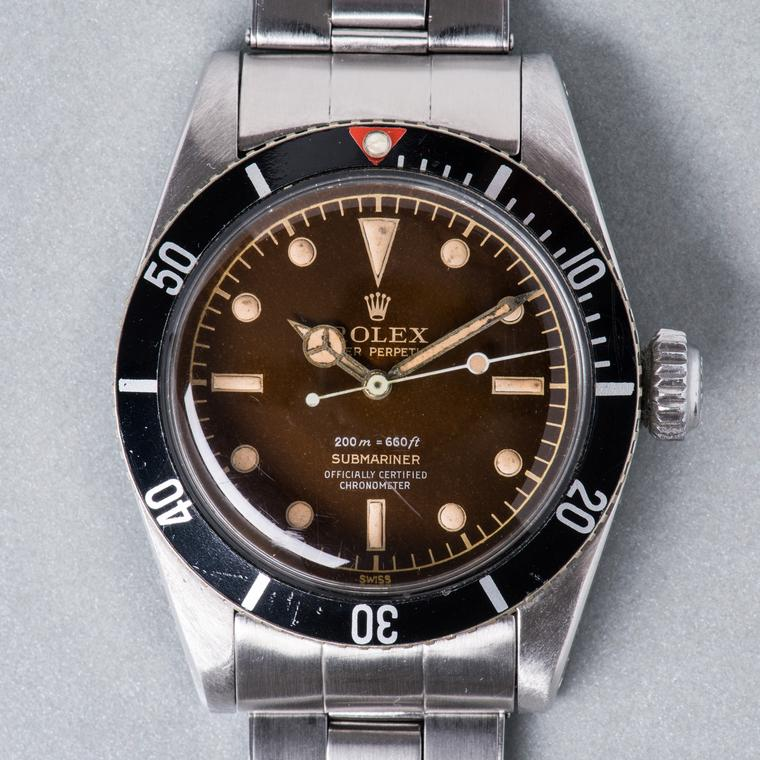 Rolex 6538 Tropical Submariner watch