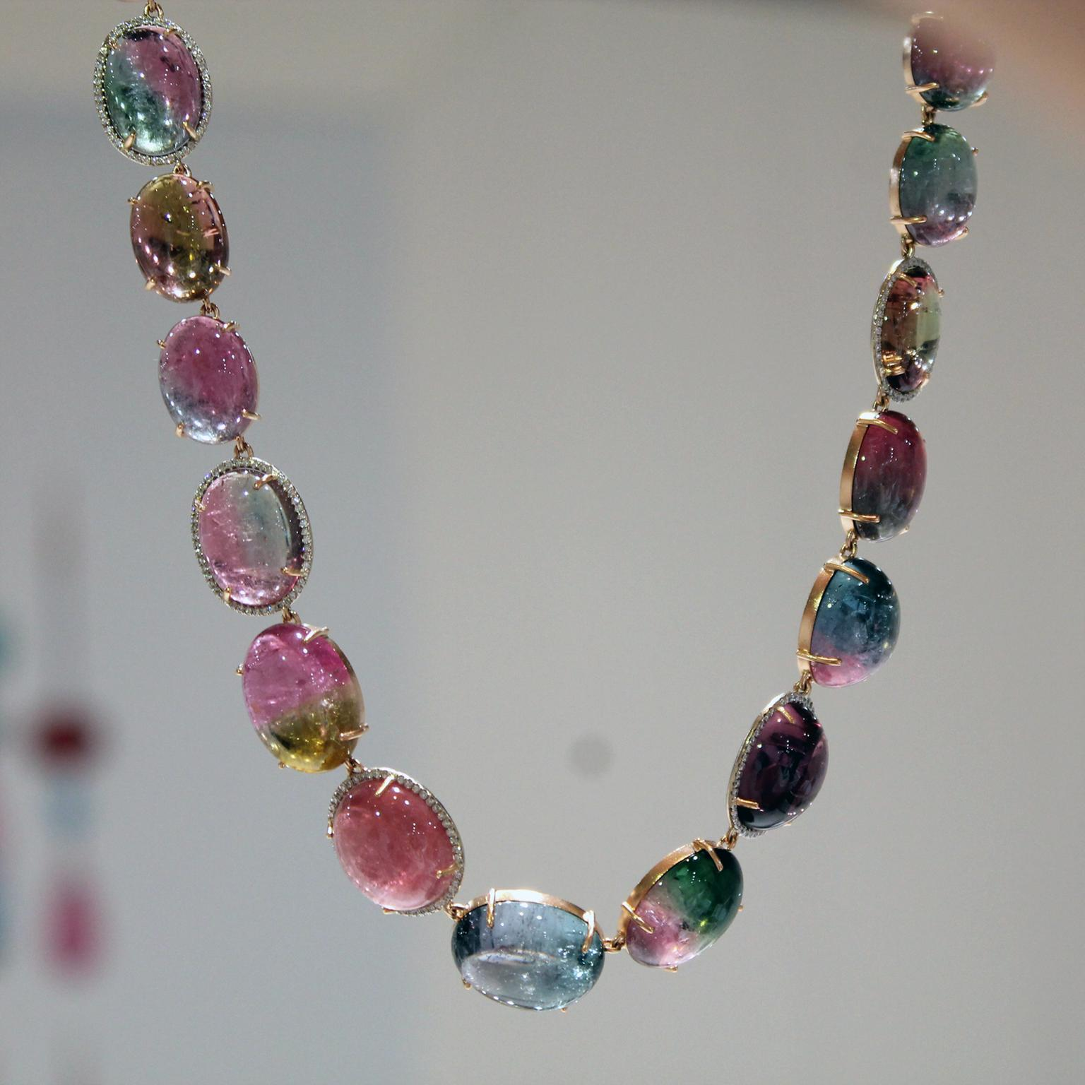 Irene Neuwirth bi-colour tourmaline necklace