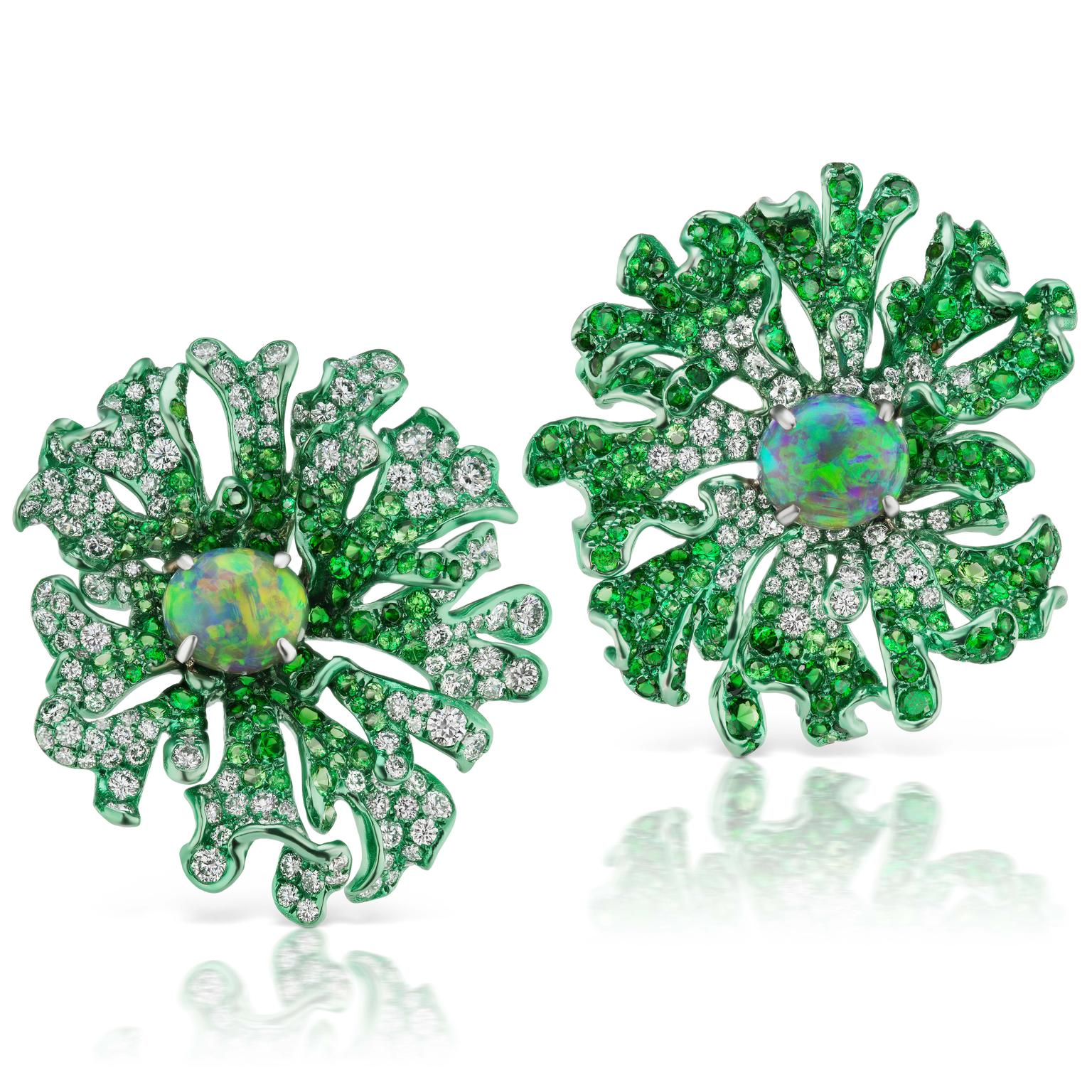 Neha Dani Jolene opal diamond earrings