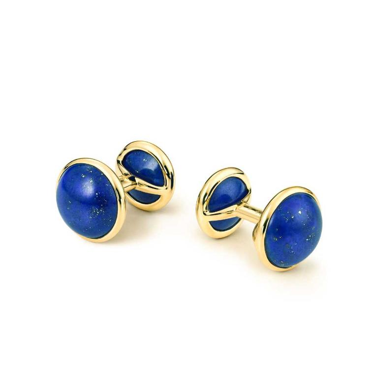 Elsa Peretti for Tiffany lapis gemstone cufflinks