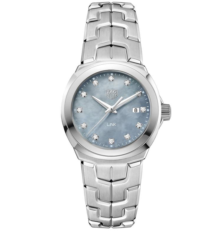 TAG Heuer Lady Link 32mm blue dial with diamond indices