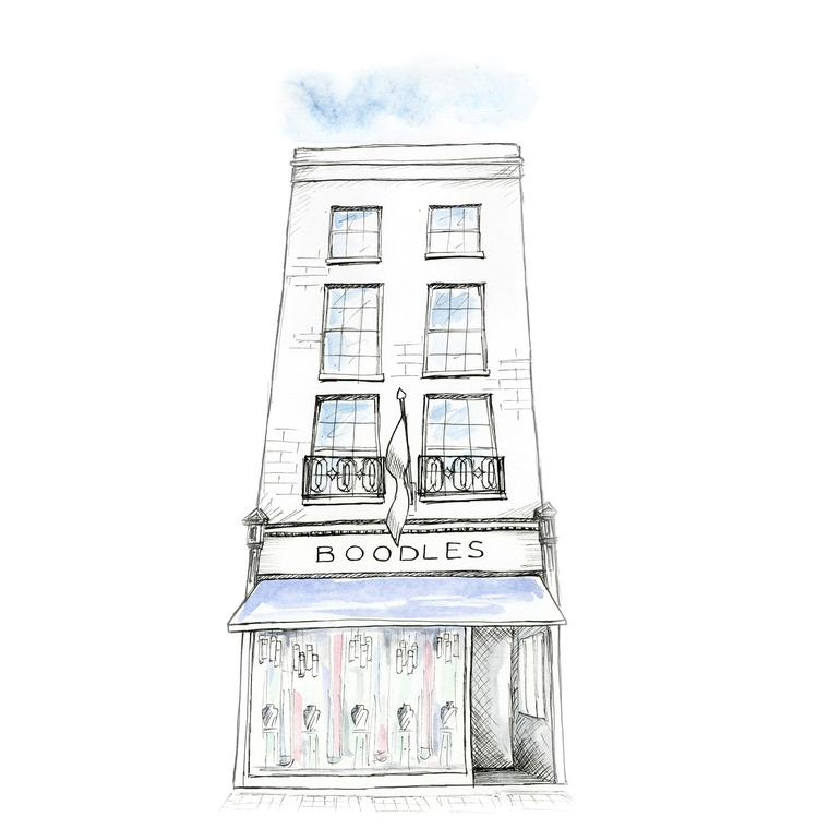 Boodles boutique sketch
