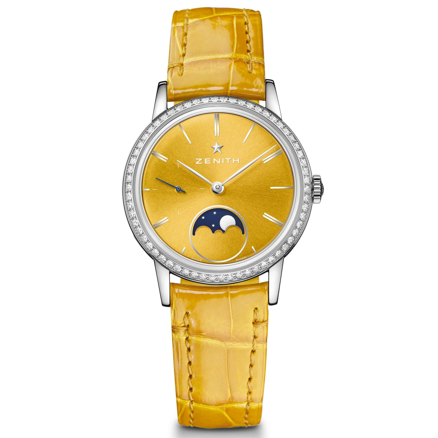 Zenith Elite Lady Moonphase yellow watch