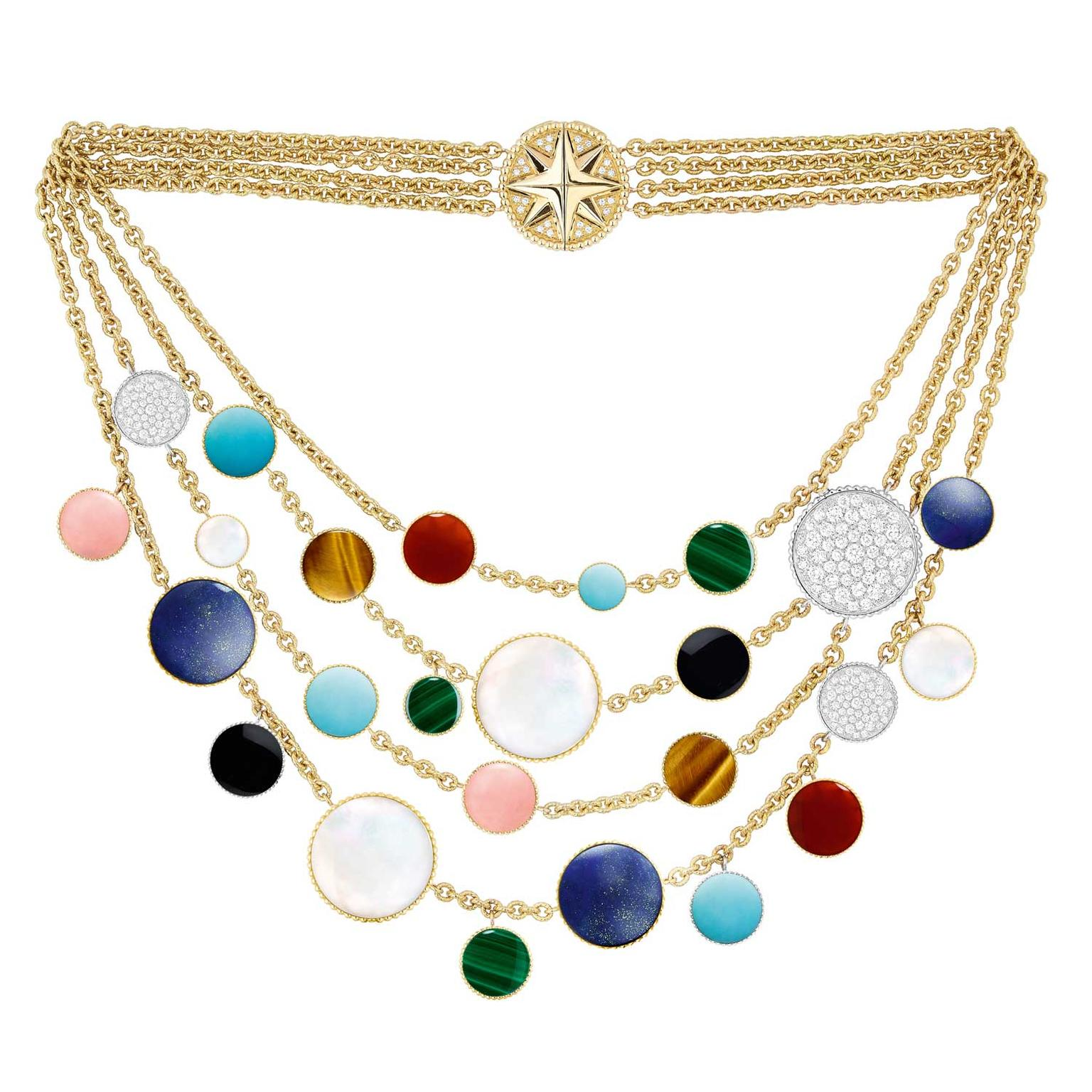 Dior Rose des Vents multi-strand necklace reverse