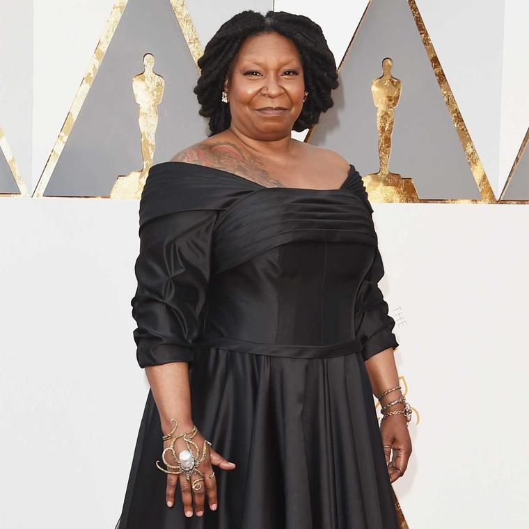 Whoopi Goldberg Oscars red carpet jewelry Sevan Bikakci