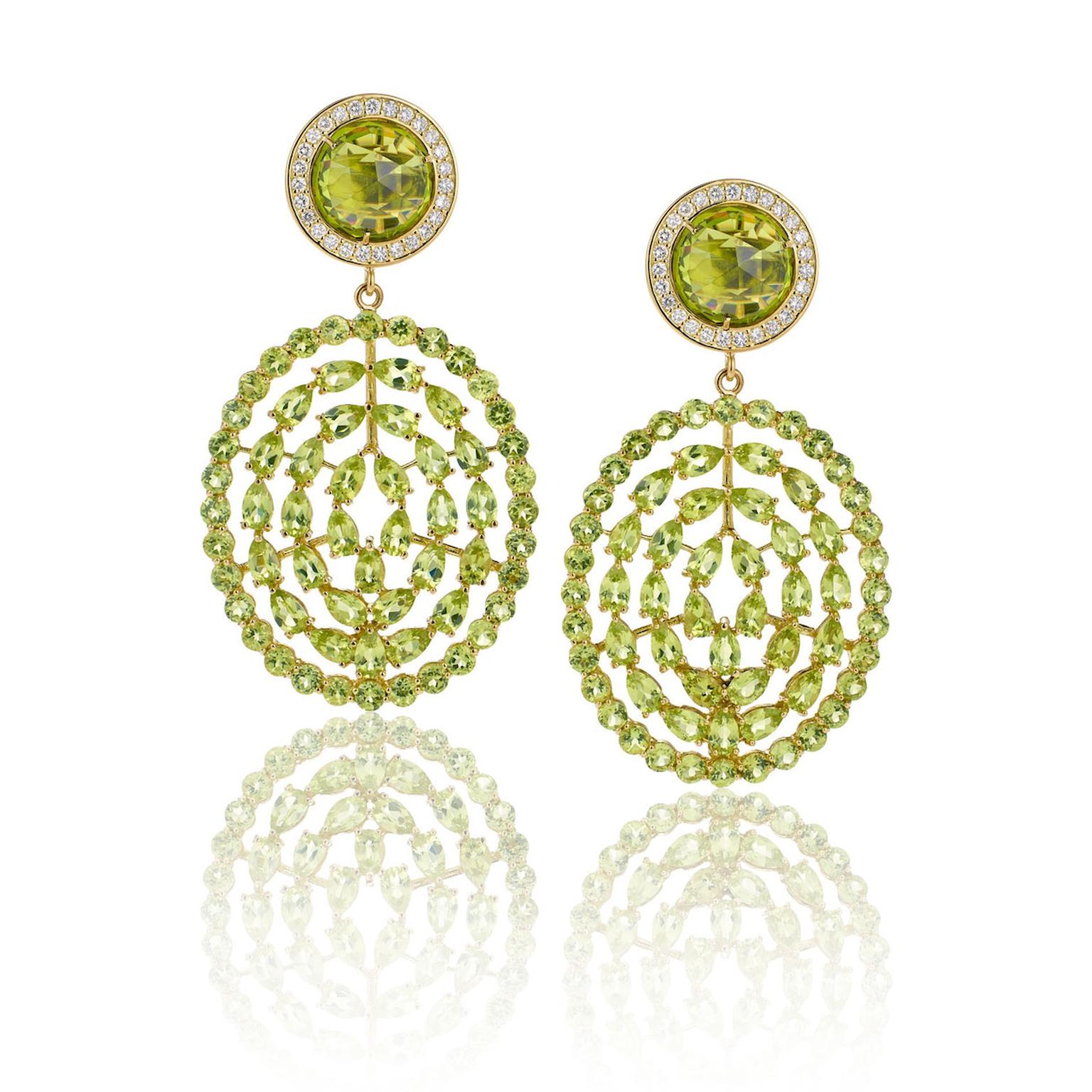 Misahara's Plima peridot earrings