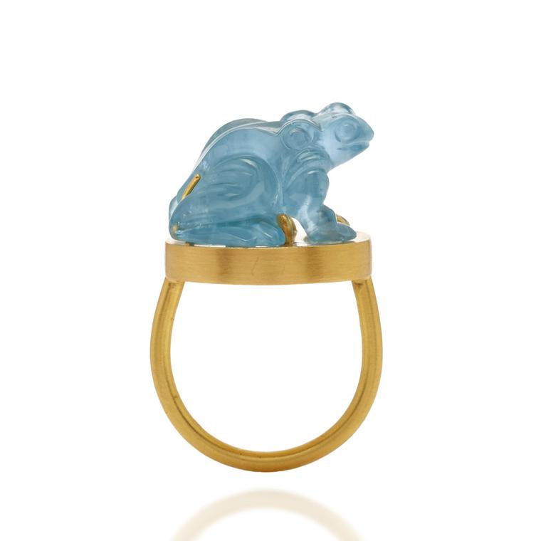 Loren Nicole Yellow Gold Heket Amulet Ring