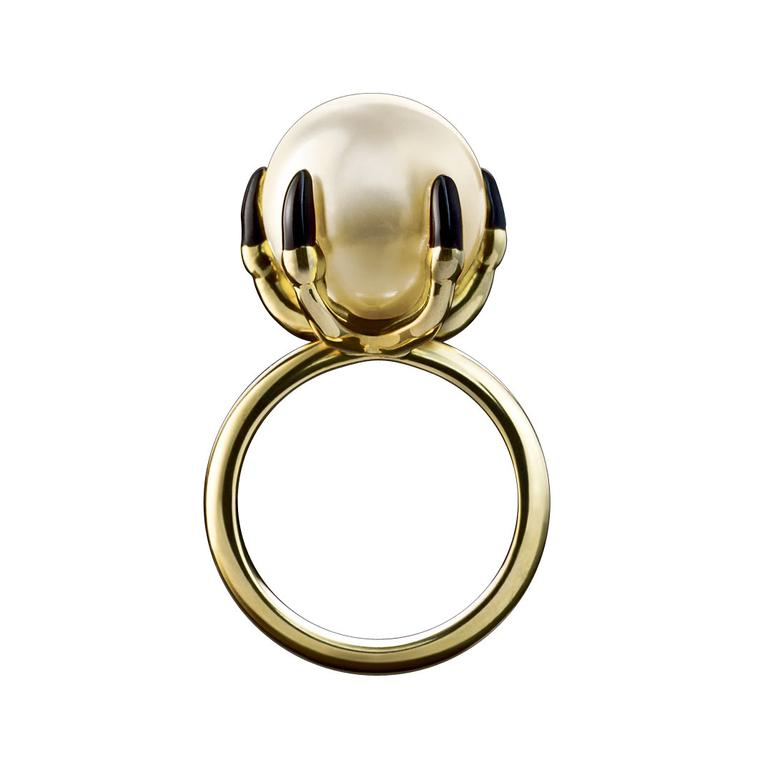 Solange Azagury-Partridge Ball Crusher pearl ring
