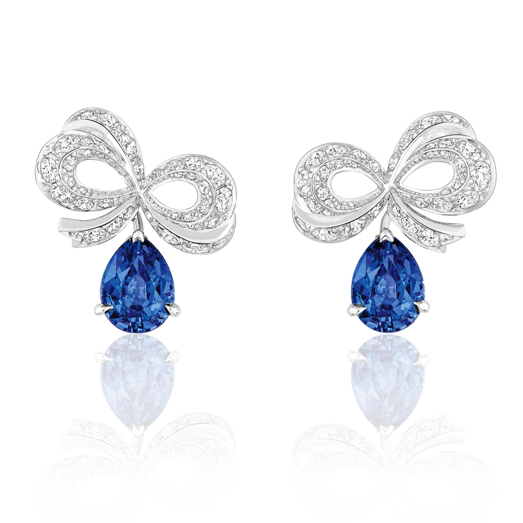 Dior Milieu du Siecle Diamant sapphire earrings