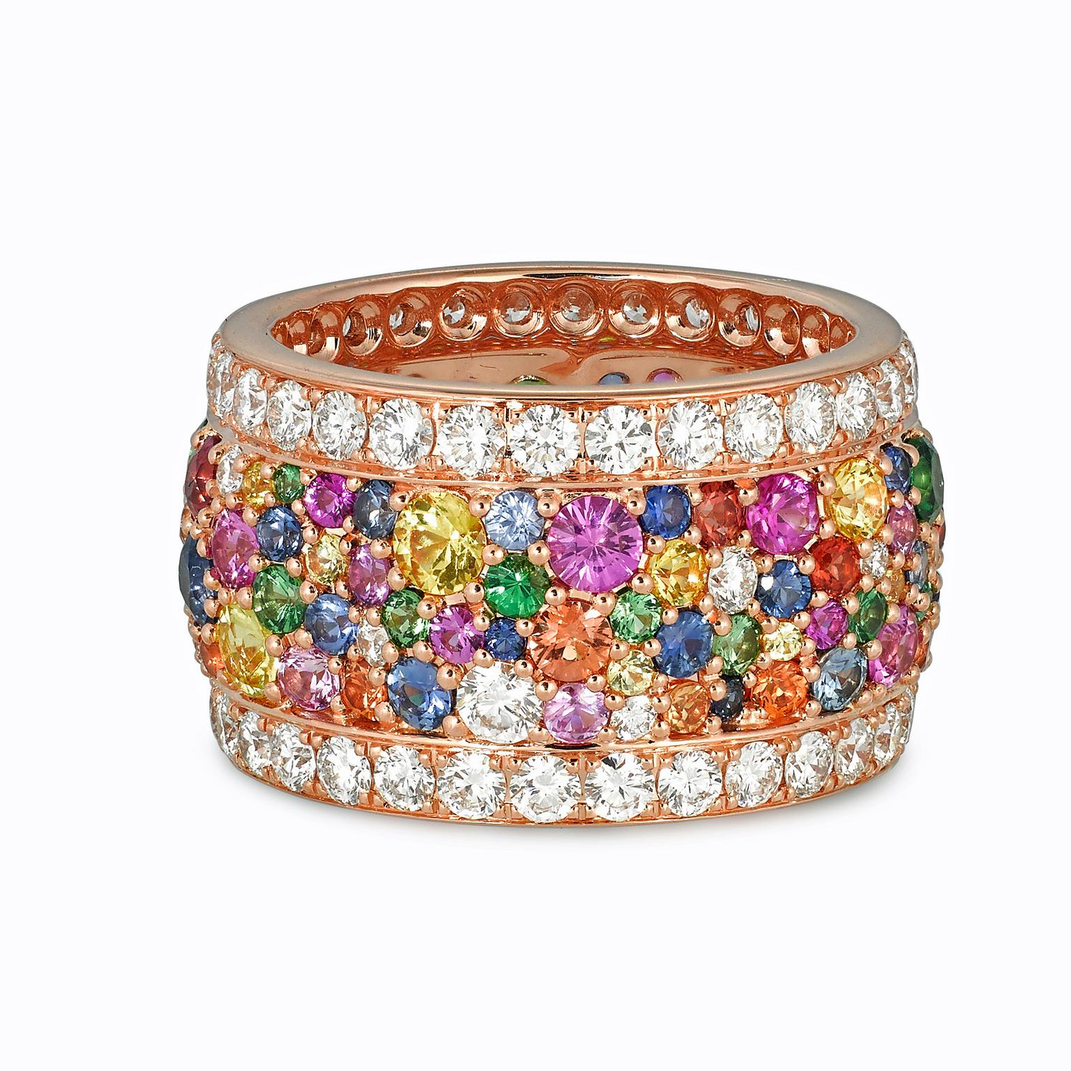 VANLELES Legends of Life multicolour gemstone ring