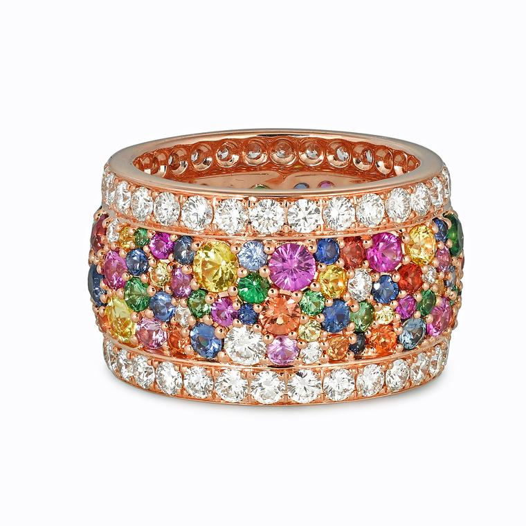 Legends of Africa multicolour gemstone ring
