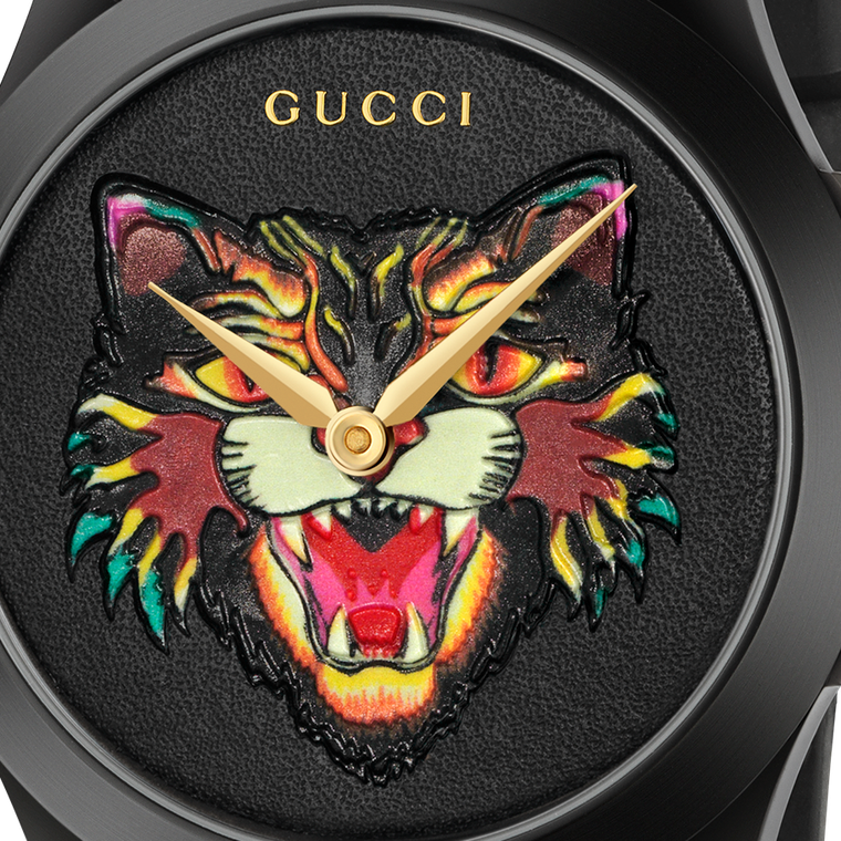 Gucci G-Timeless watch cat dial