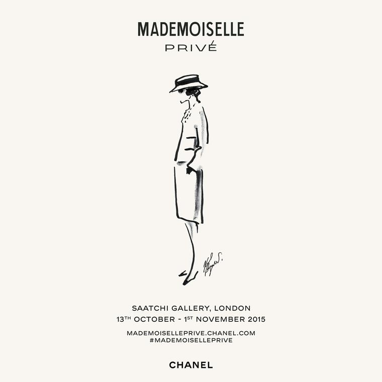 Affiche Chanel Mademoiselle Privé poster