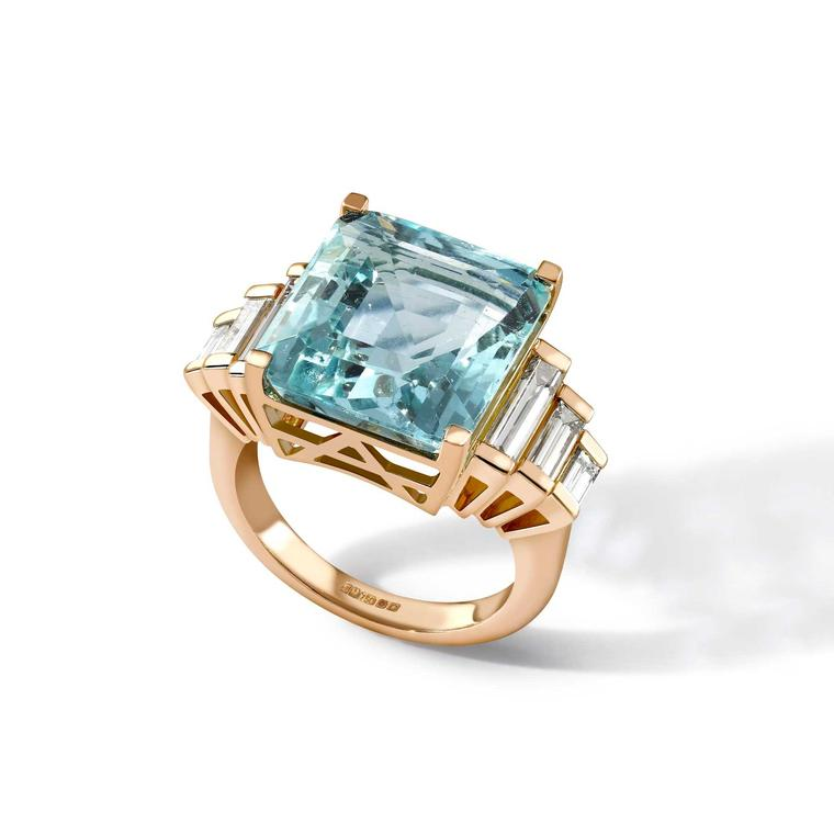 Emma Franklin aquamarine ring