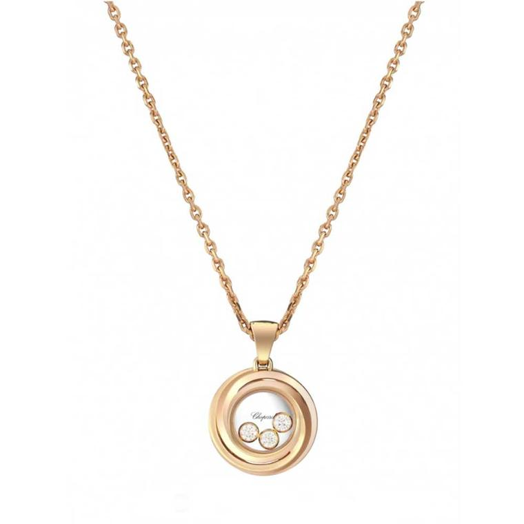 Chopard Happy Diamonds necklace in rose gold