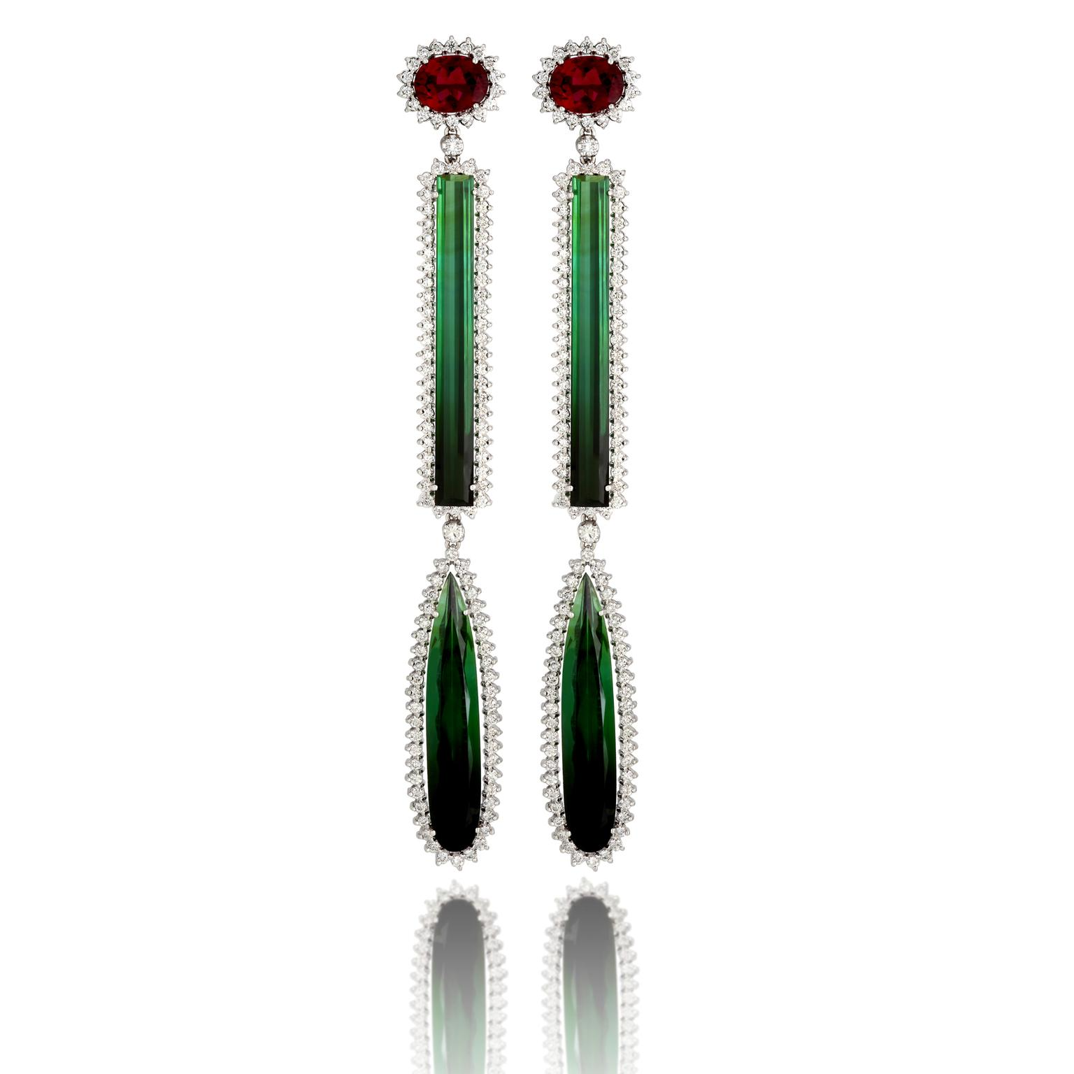 Vianna Brasil Raffinato white gold earrings