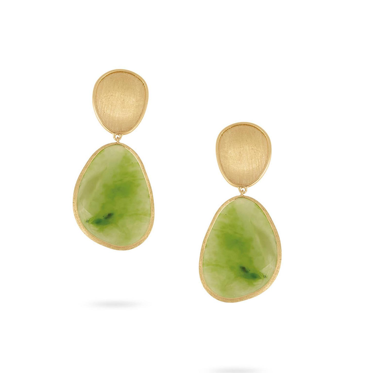 Marco Bicego Lunaria Unico jade earrings