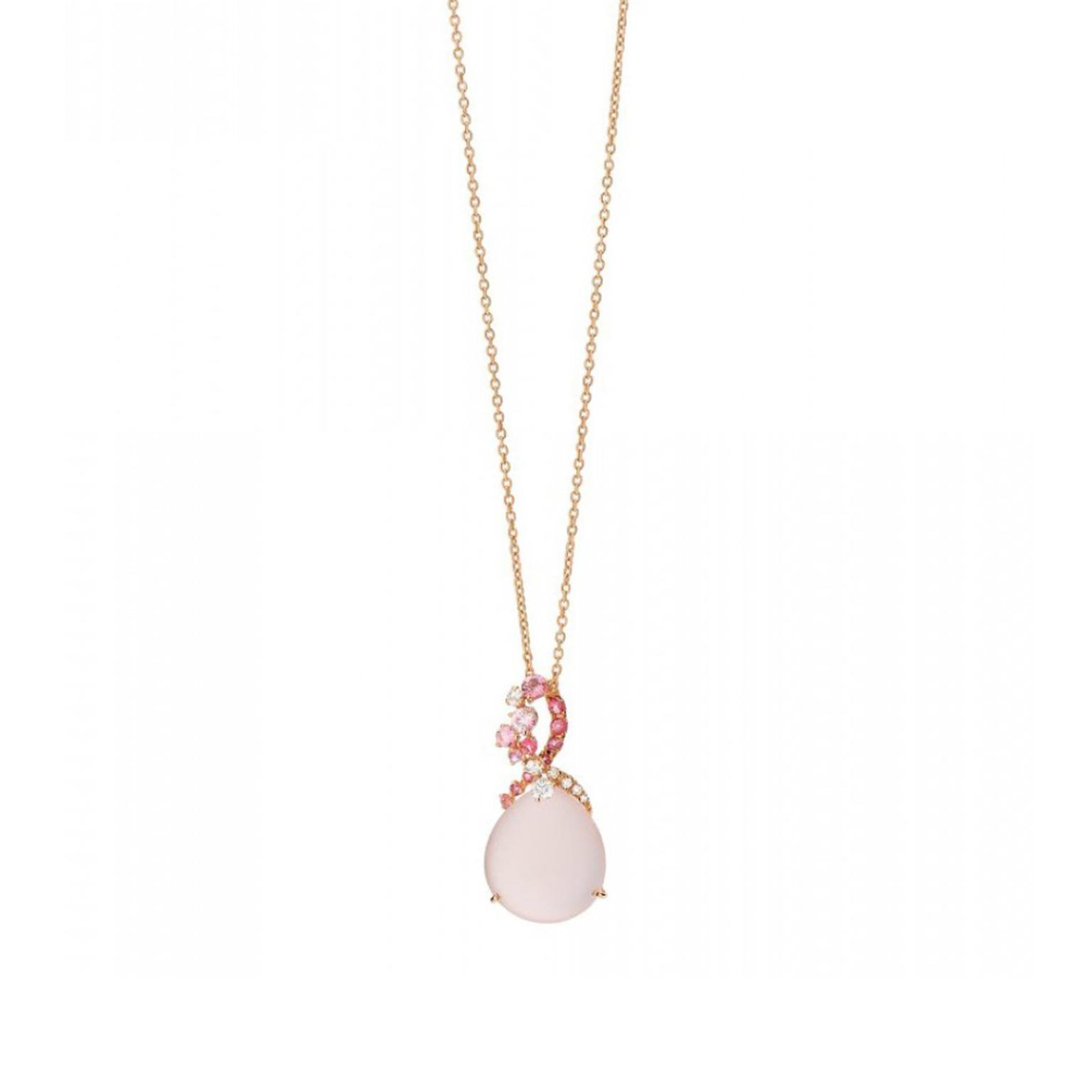 shui golden neckalce peach adjustable feng pendant