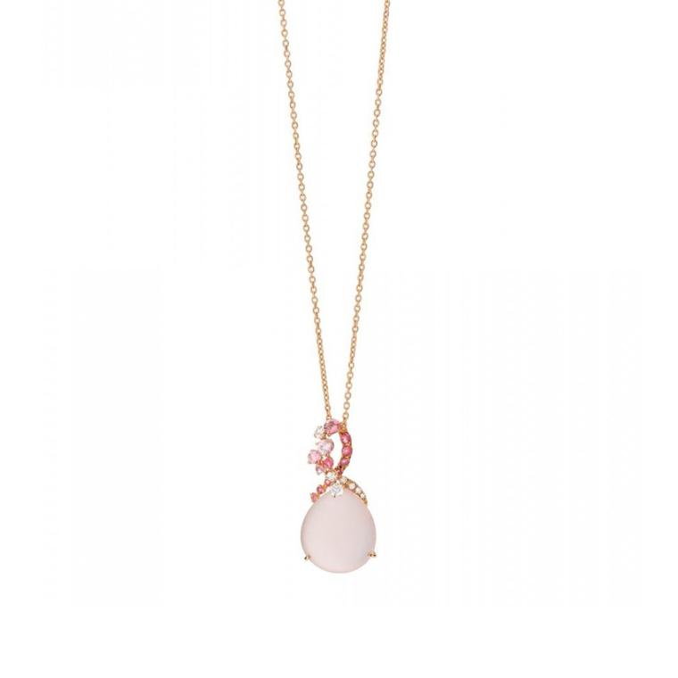 Brumani Baobob Rose necklace with pink tourmaline