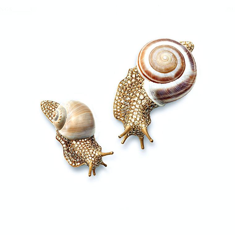 Hemmerle snail shell brooches