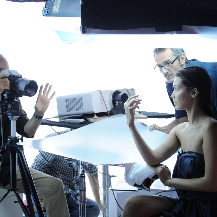 Behind the scenes with Boghossian and Bella Hadid for Les Merveilles