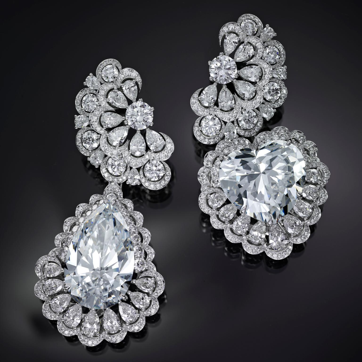 Chopard The Garden of Kalahari diamond earrings