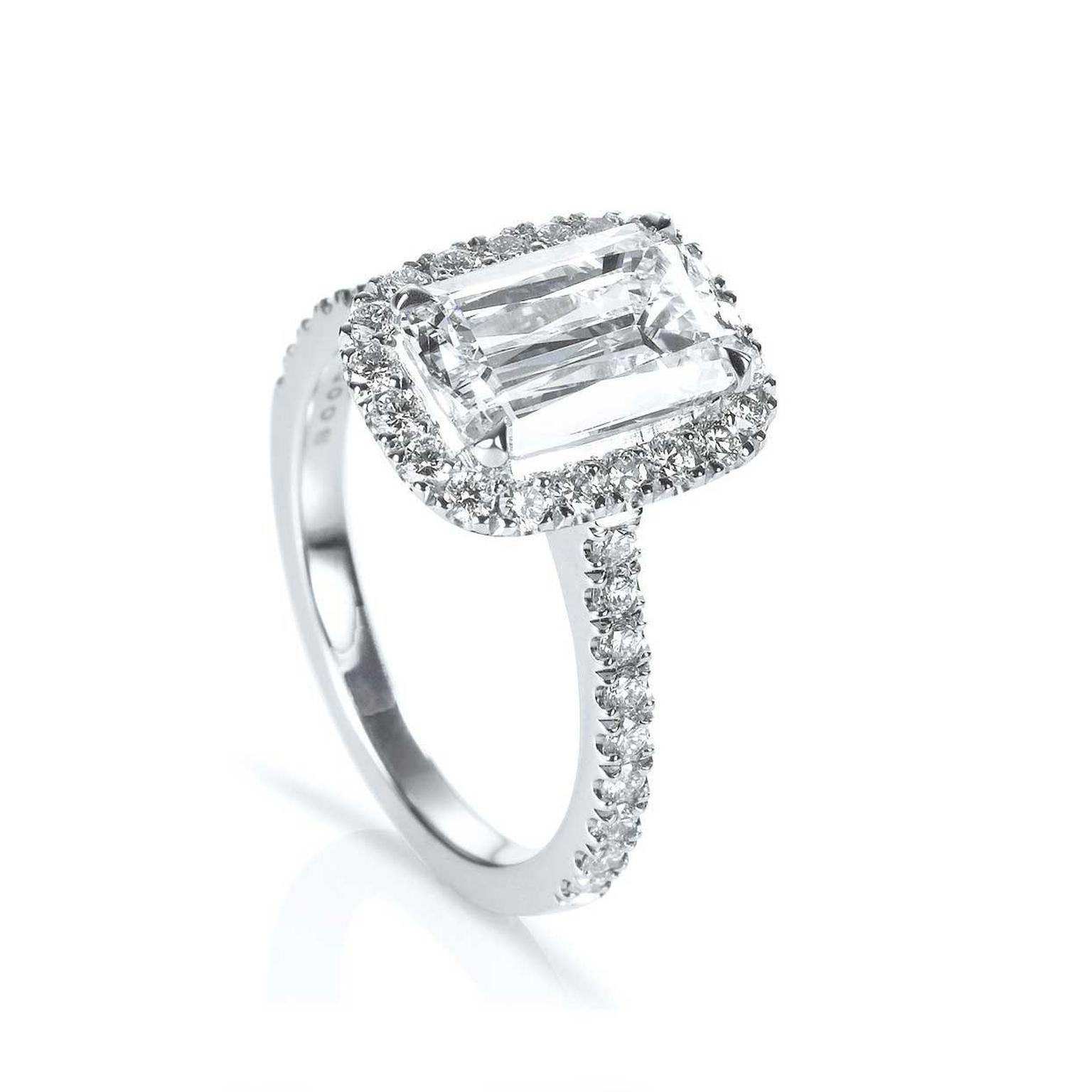 Boodles New Vintage Ashoka diamond ring