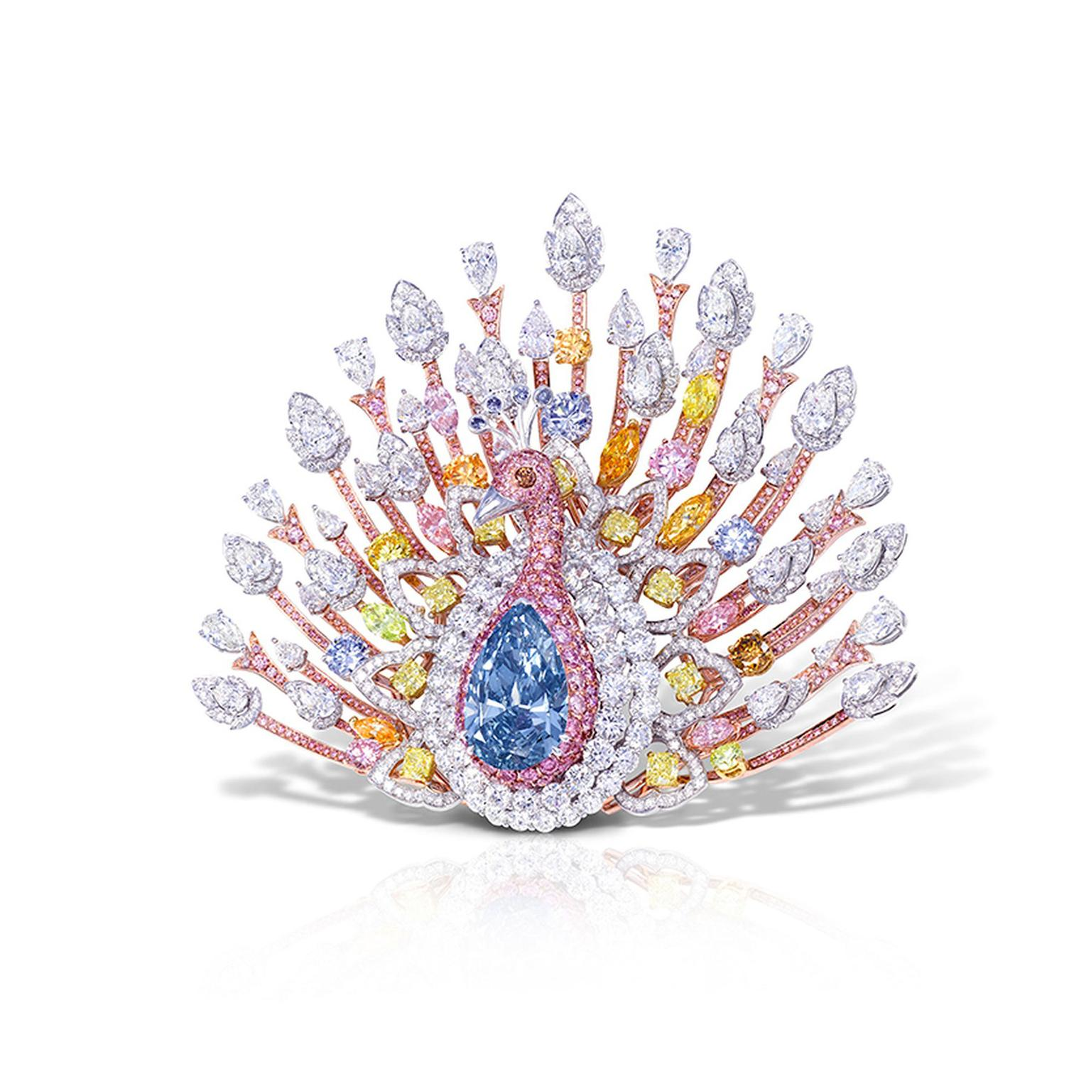 Graff diamond peacock brooch