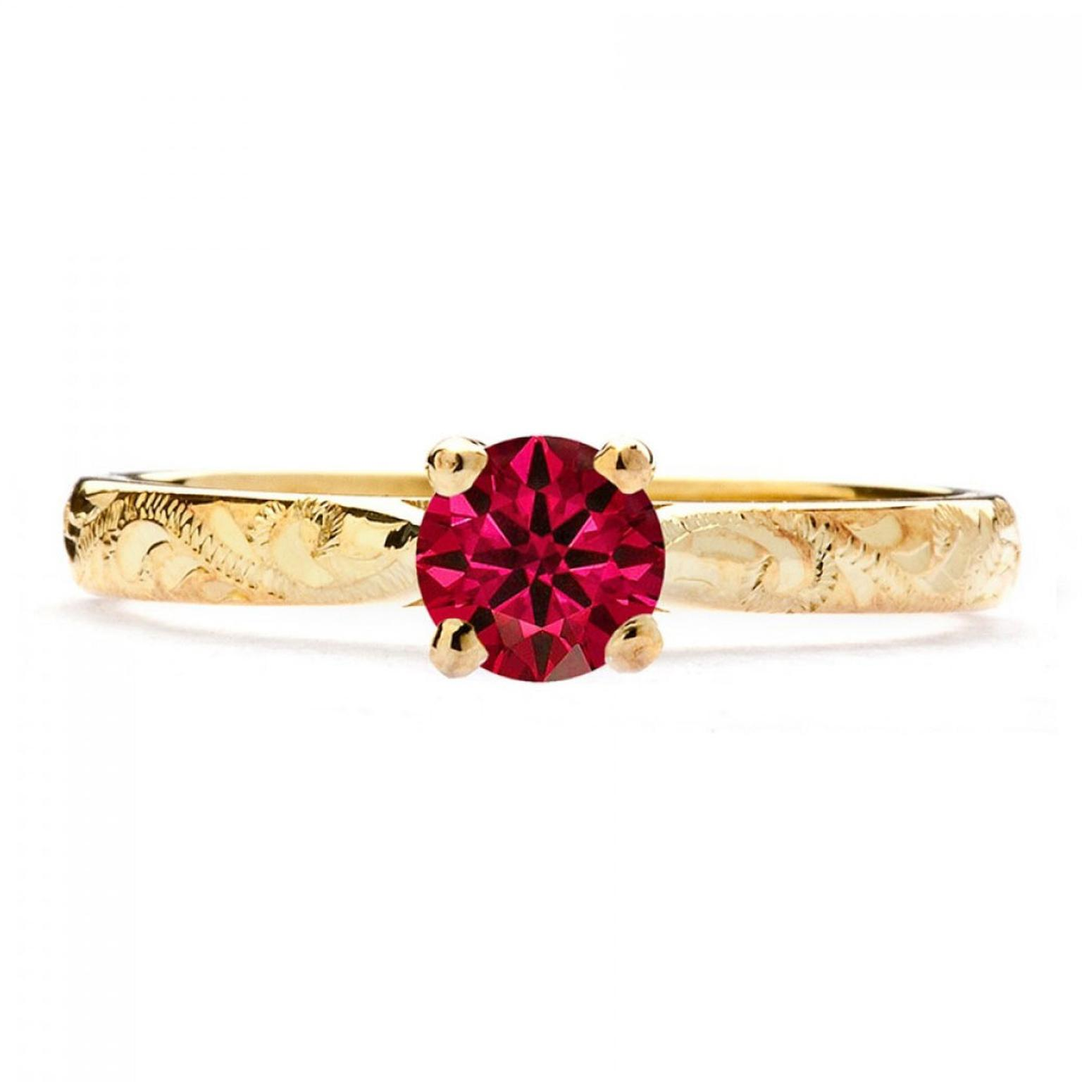 Arabel Lebrusan Athena ruby engagement ring