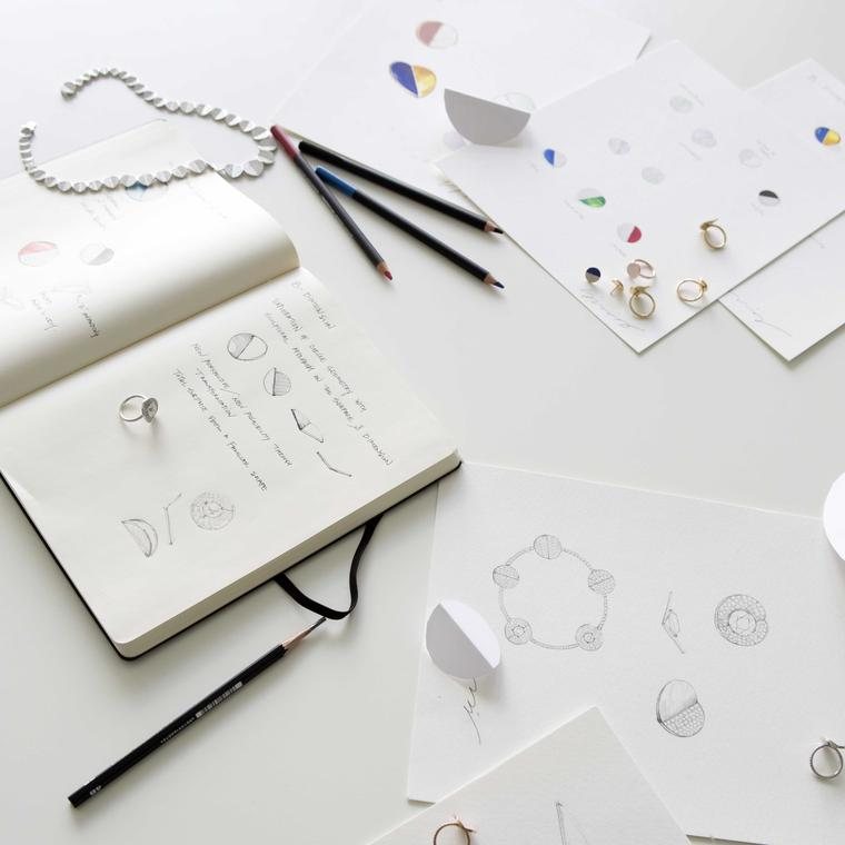 Sketches of Bucherer B Dimension jewels designed by Yunjo Lee
