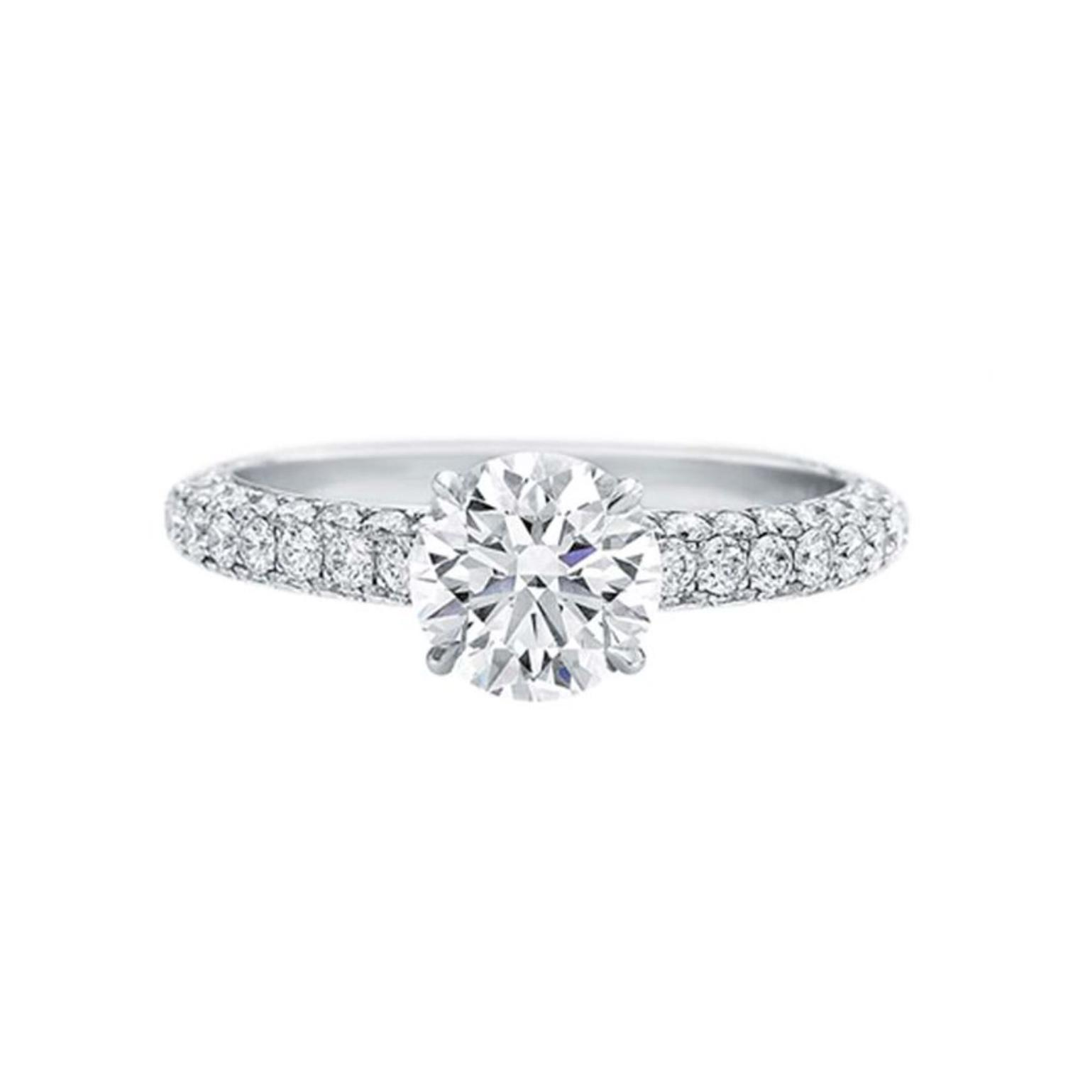 Harry Winston attraction 1 carat diamond engagement ring