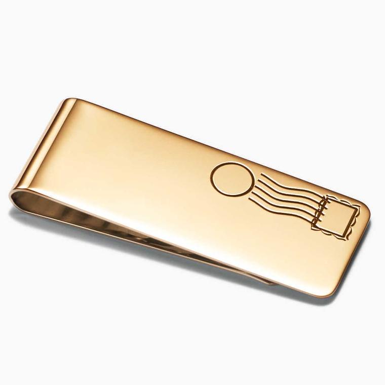 TIffany gold Postage money clip from the Out of Retirement collection