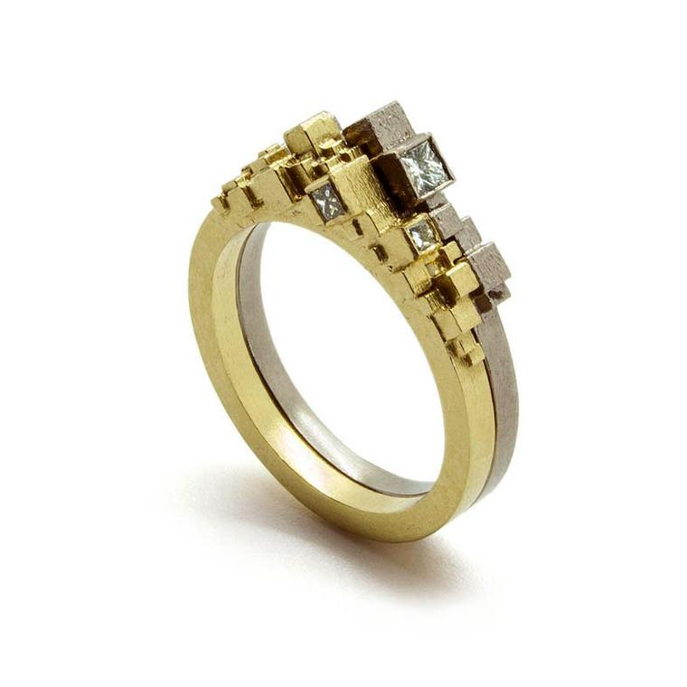 Jo Hayes Ward yellow gold diamond ring