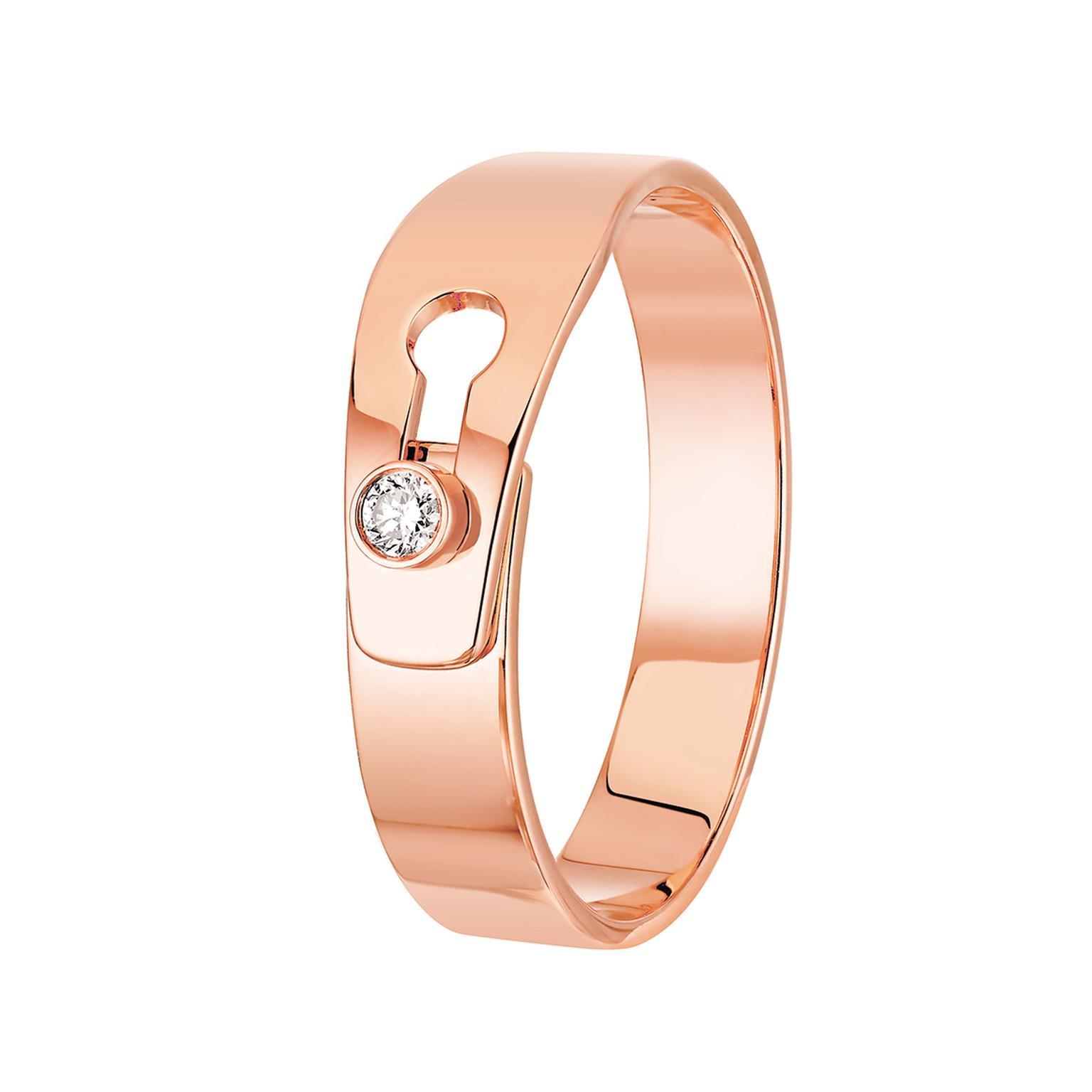 Dinh Van Le Serrure ring rose gold