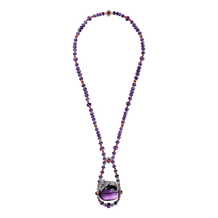 Cartier Étourdissant amethyst opal, emerald and diamond necklace