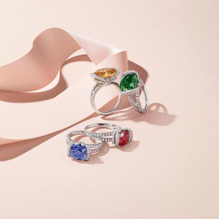 Chaumet Liens Amour coloured gemstone rings
