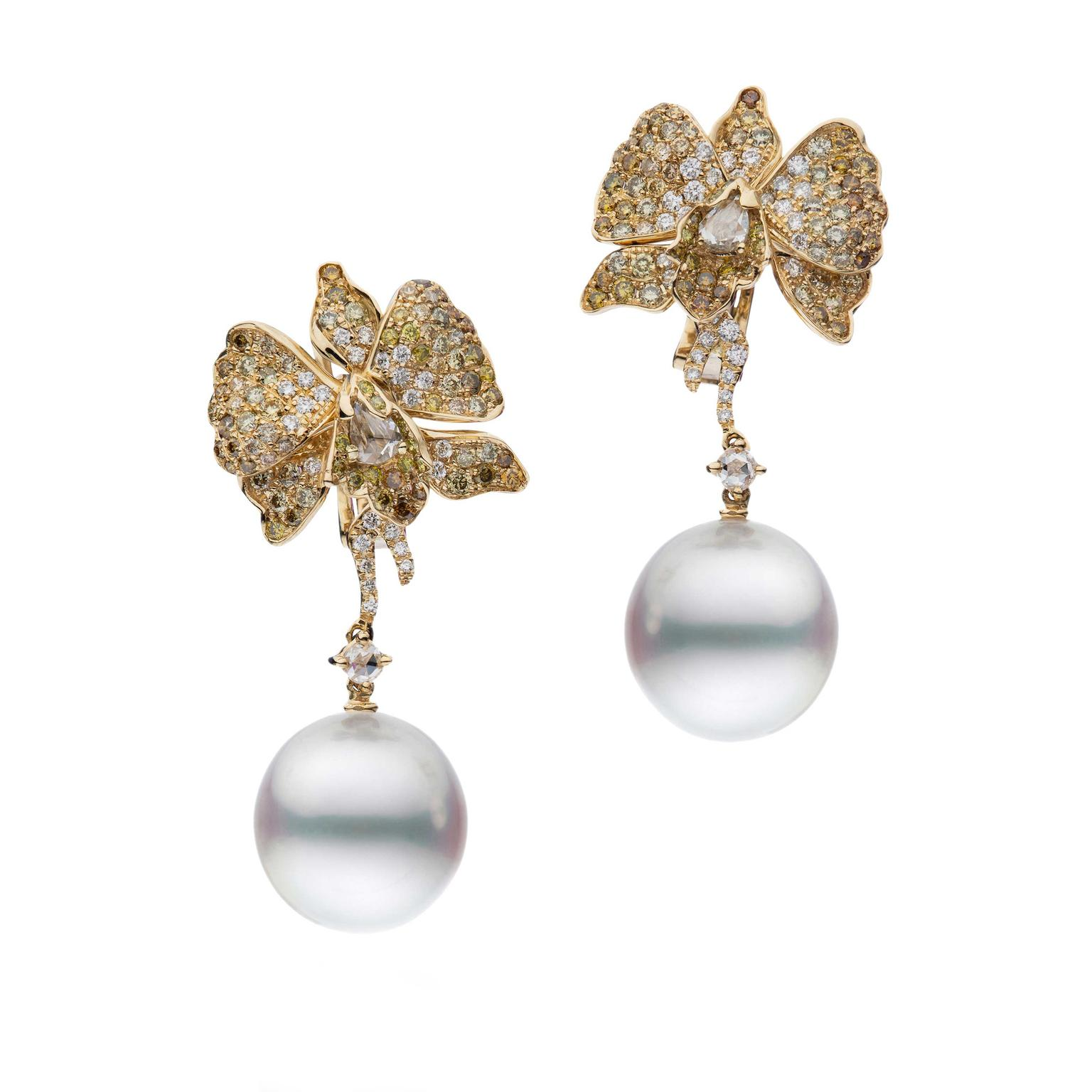 Autore Orchid Orange Blossom South Sea pearl earrings