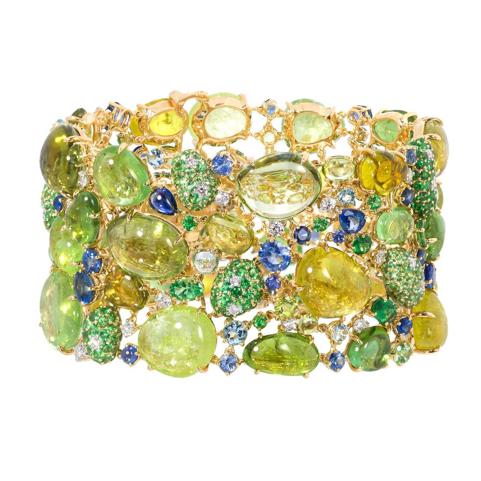 Margot McKinney Paraiba tourmaline and opal bracelet