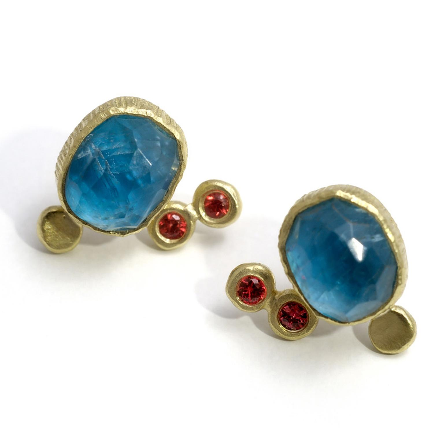 Maria Frantzi apatite stud earrings