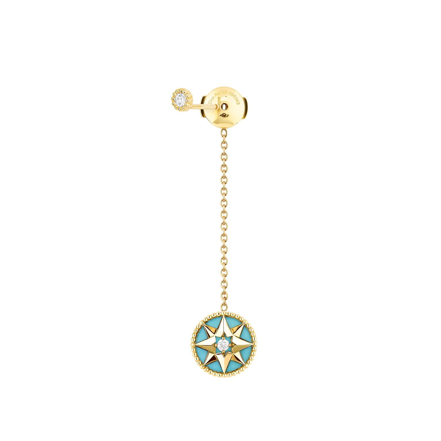 Turquoise Rose Des Vents Earring Dior The Jewellery Editor