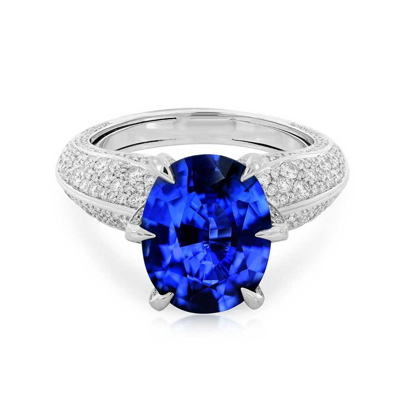 gia ct ii ring sapphire certified g platinum vivid cut blue ceylon cushion appraisal