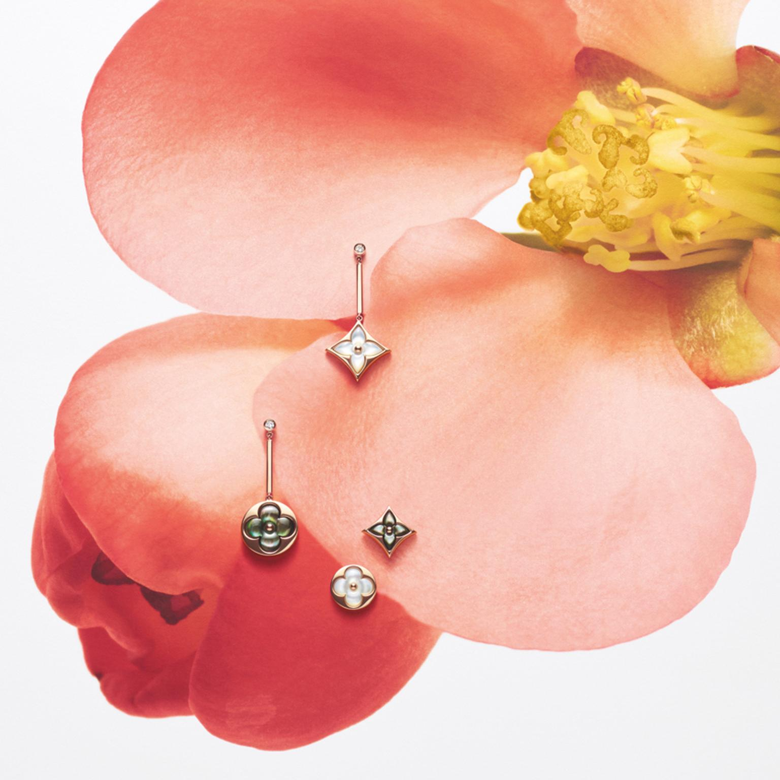 Louis Vuitton Blossom mismatched earrings