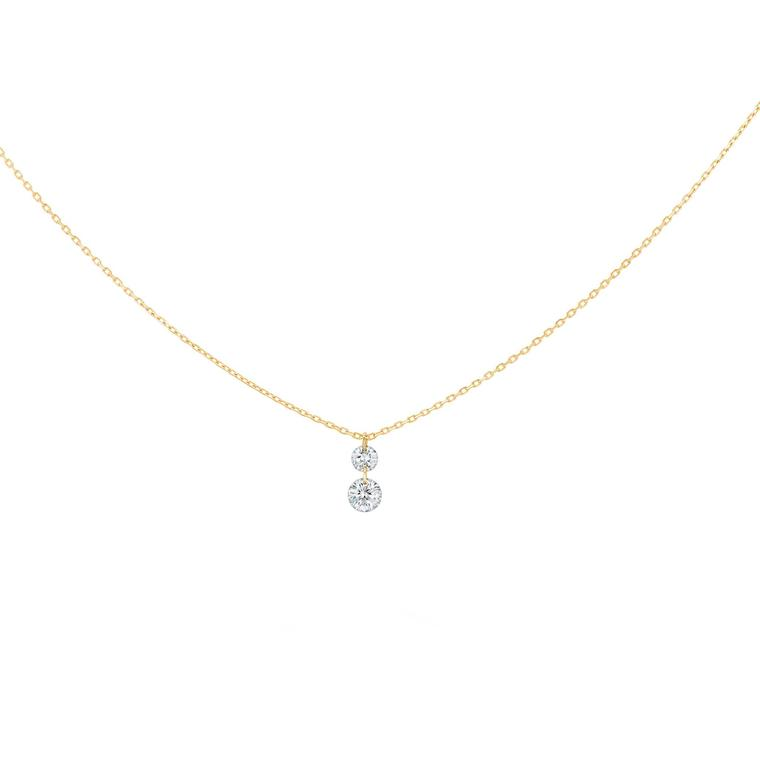 La Brune & La Blonde 360° Duo necklace with brilliant-cut diamonds on a gold chain