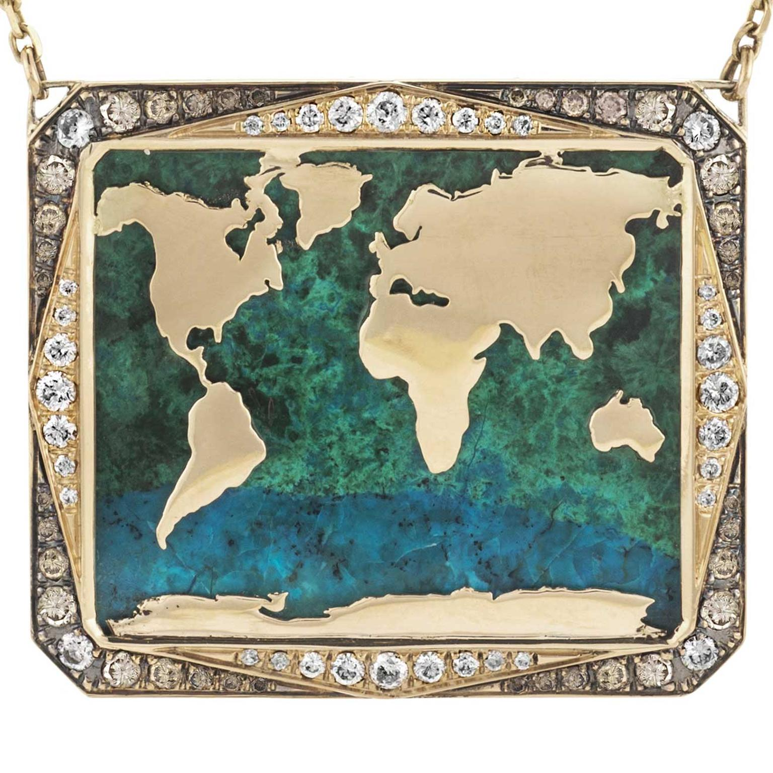 Venyx World Atlas necklace £13200