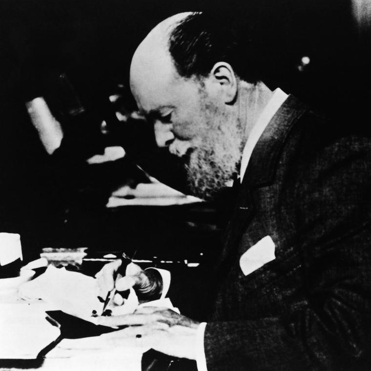 Peter Carl Fabergé at his desk