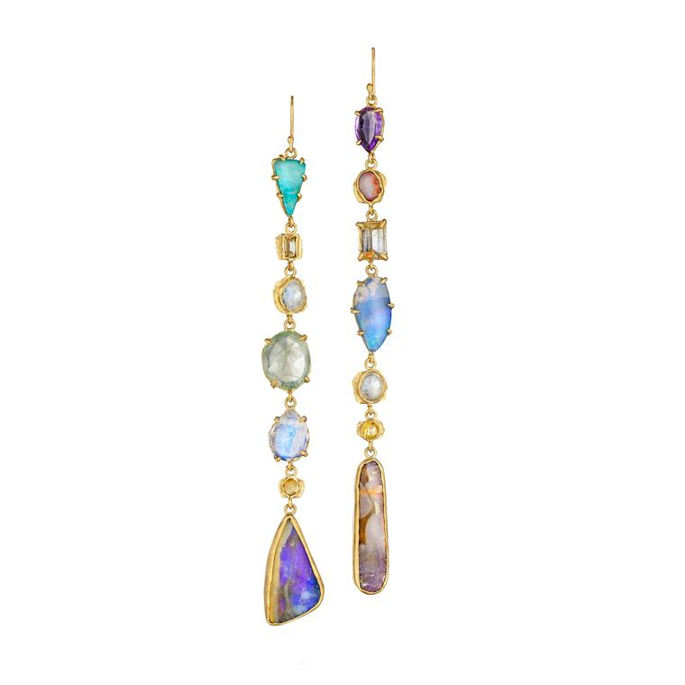 Margery Hirschey coloured gemstone earrings