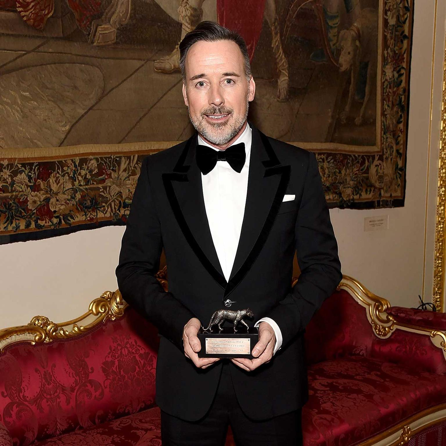 Leopard Legend Award accepted by David Furnish on behalf of Elton John